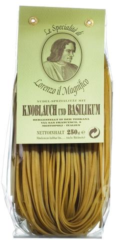 Linguine mit Knoblauch u. Basilikum